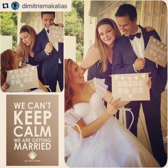 """Δημητρης Μακαλιας Αντιγονη Ψυχραμη, γαμος 2015 Σύντομα στο πιο κοντινό """"Hello"""" της περιοχής σας! We Can't Keep Calm! We Are Getting Married! @eliteeventsathens_santorini take us to church!!! #savethedate #wedding #antigonidimitris organized by #eliteeventsathens #weddingplanner #prewedding #props #decoration #planning #eliteeventsathens_team #bestplanners in #athens #greece  @cosmopolitina @dimitrismakalias @antigonipsihrami @ariskavatzikis @jovannavlachava @pxourafi"""