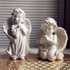 Европейские моды украшения дома смолы ремесел гостиная ден маленький ангел украшения свадебные принадлежности подарок