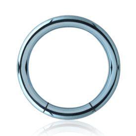 Titanium Smooth Segment Ring - Light Blue