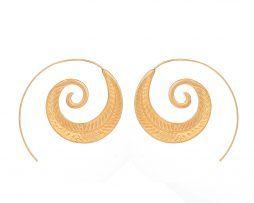 Luxusné naušnice v tvare špirálového listu v rôznych farbách,,