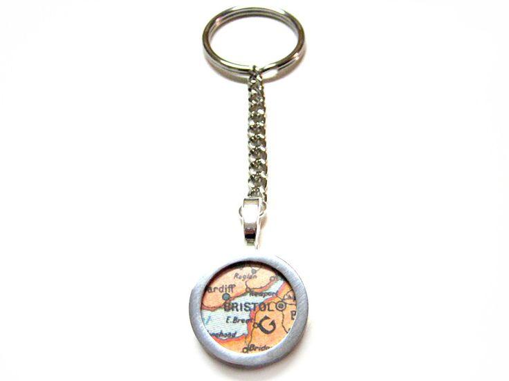 Bristol Map Key Chain