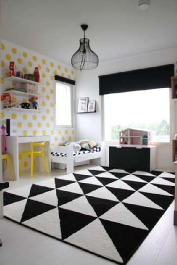 Sisustus - lastenhuone - graafinen ja geometrinen ilme