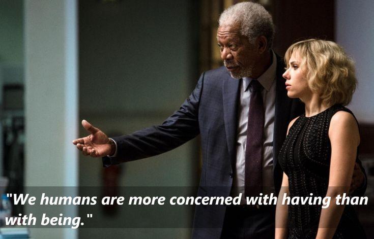 Lucy (2014) Morgan Freeman as Professor Norman https://www.facebook.com/Quotes2Reminisce