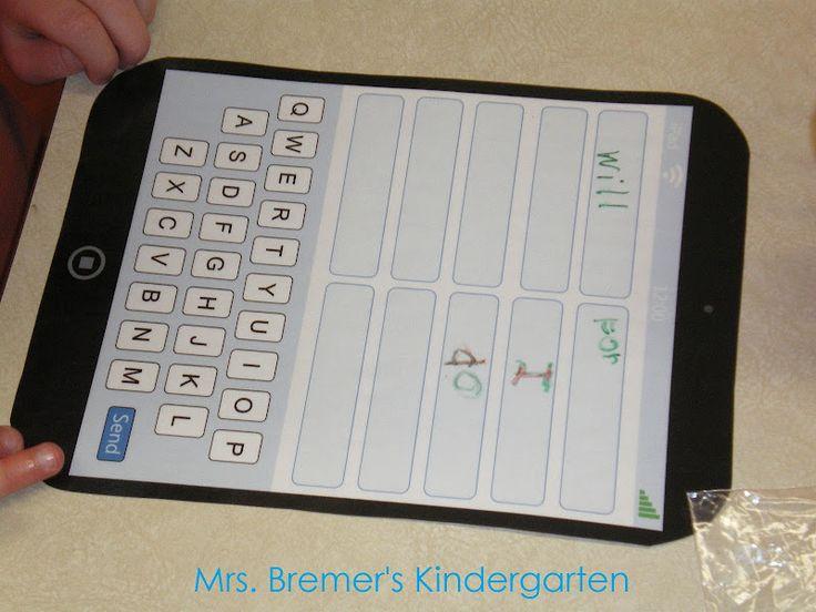 Modèle de iPad à imprimer - Créé pour pratiquer l'étude des mots lors des 5 au quotidien