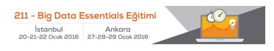 Büyük Veri Eğitimleri Ocak 2016'da İstanbul ve Ankara'da!