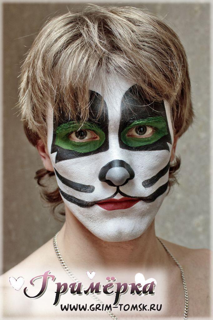 Аквагрим, грим, Группа KISS.Человек-Кот ( Питер Крисс и Эрик Сингер) face painting, make-up,Group KISS. (Peter Criss and Eric Singer)