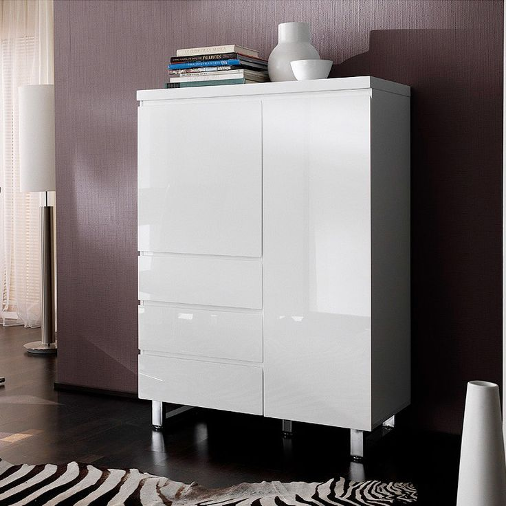 Commode kast hoogglans wit inrichting pinterest for Wohnzimmer 4 x 8