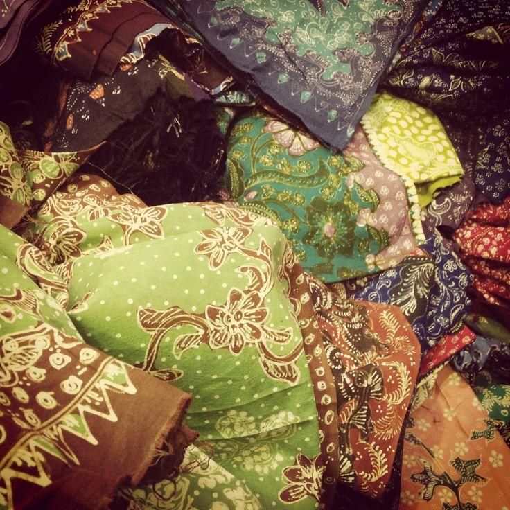 Various soft and natural colors of Batik Lasem #batik #indonesia