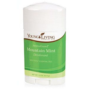 EssentialOilsLife - AromaGuard Mountain Mint Deodorant - 1.5 oz by Young Living. $22.93. essential oils. therapeutic grade oils. safe. all natural. natural health. AromaGuard Deodorants are the first natural deodorants formulated exclusively from therapeutic-grade essential oils and all-natural ingredients. They provide a pleasant and safe alternative to commercial deodorants and are free of propylene glycol and to