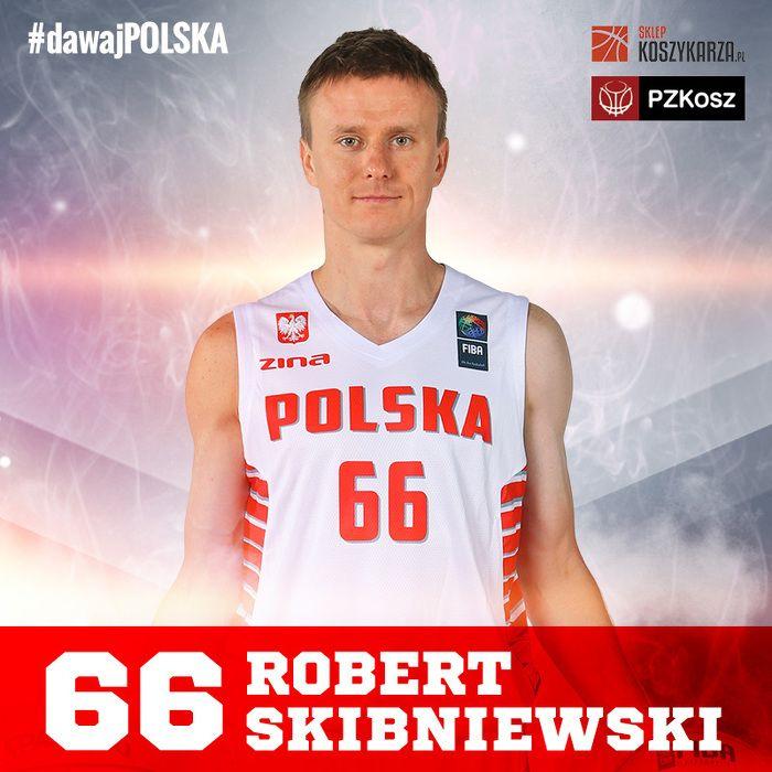 Robert Skibniewski (#66) - rozgrywający  Reprezentant Polski w Koszykówce