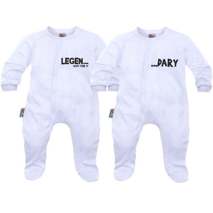 2x pyjama bébé jumeaux et jumelles : legen... dary - SiMedio