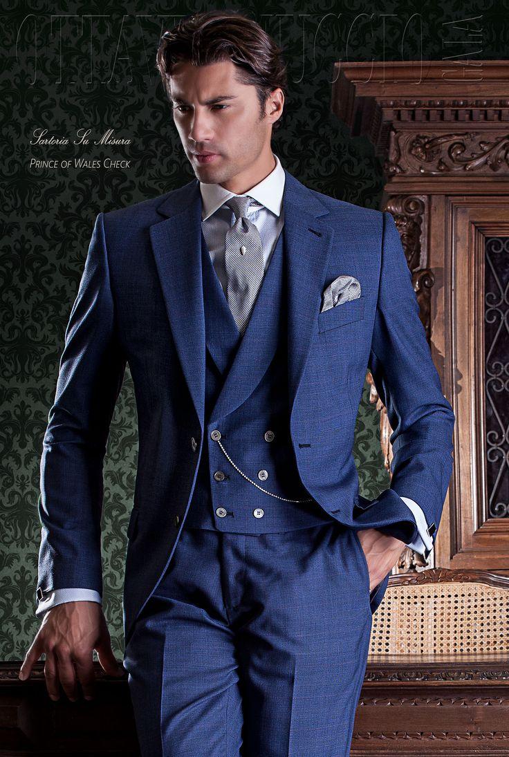 Vestiti da Sposo su Ottavio Nuccio Gala (Gentleman 1400), linea gentleman, mezzo-tight