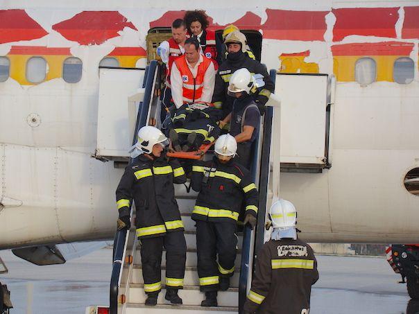 El Aeropuerto de Barcelona-El Prat realiza un simulacro general de accidente aéreo