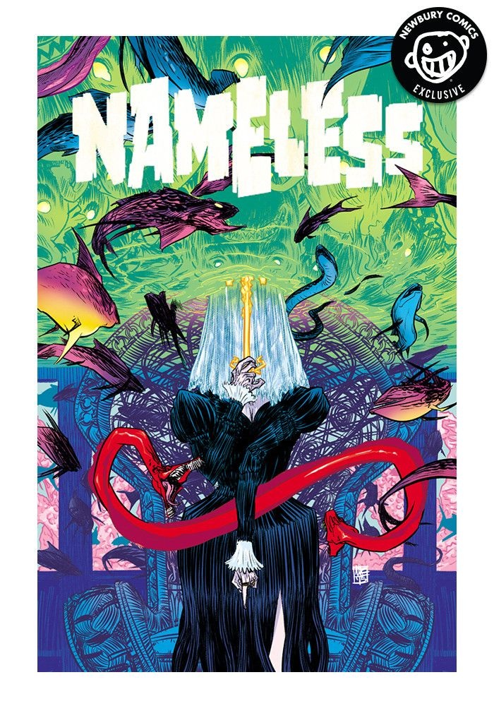 A Newbury Comics exclusive variant cover comic. (W) Grant Morrison (A) Chris Burnham (CA) Nathan Fox An astronomer kills his family, then himself, leaving a cryptic warning. A Veiled Lady hunts her vi