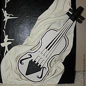 Картины и панно ручной работы. Ярмарка Мастеров - ручная работа Картина из натуральной кожи Гармония. Handmade.