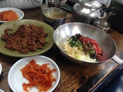 경남 진주 천황식당 육회비빔밥,불고기