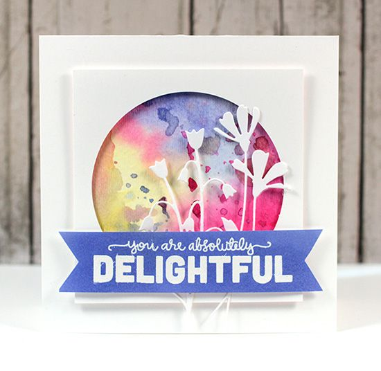 Delightful Distress Ink background -- video tutorial by Kristina WernerDelight Cards, Kristina Werner, Fresh Daisies, Simon Says, Videos Tutorials, Ink Backgrounds, Watercolor Cards, Card Tutorials, Distressed Ink