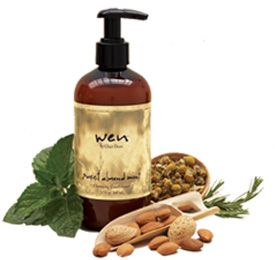 Wen Hair Care   I use the Almond Mint. Since I got a keratin treatment, they told me I had to use sulphate-free shampoo. I will never ever ever go back to regular shampoo- my hair has never been better.
