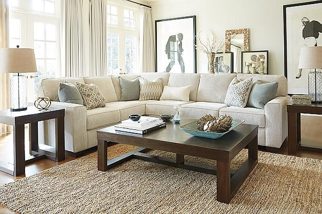 Sand Salonne 3 Piece Sectional View 3 Great Room Ideas