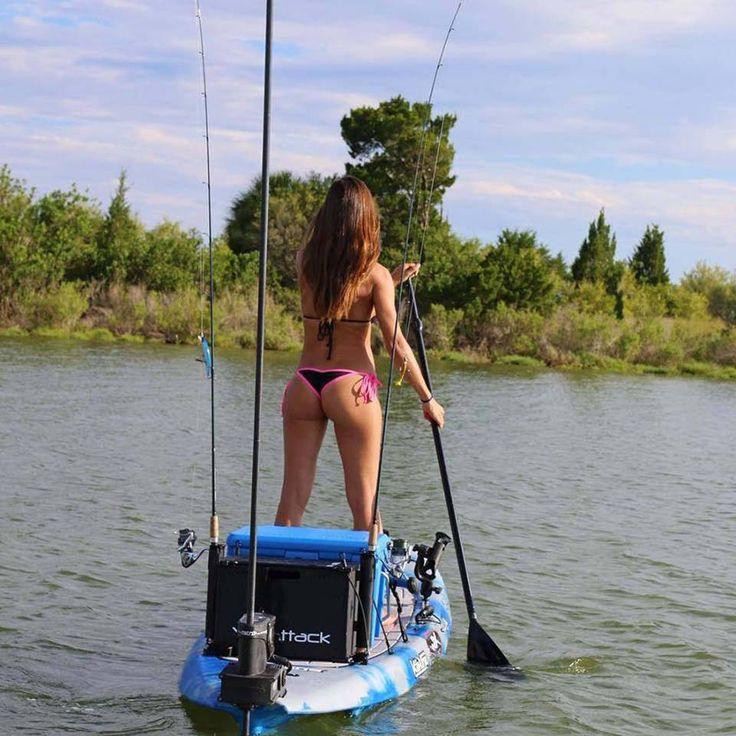 More kayak fishing here and more fishing girls here!