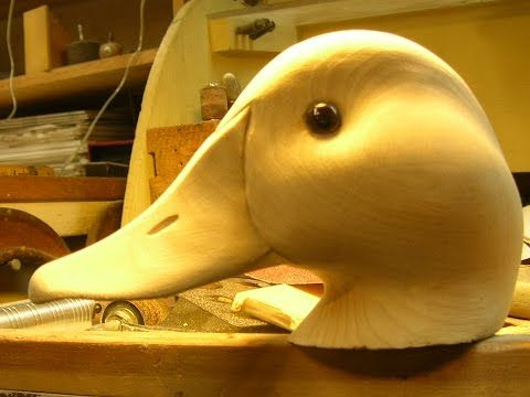 Decoy Carving: Decoy Head Power Carving, Part 1 - YouTube