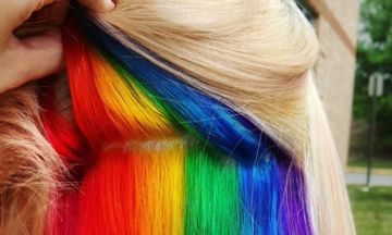 'Hidden Rainbow' Hair Is A Trend You Won't See Coming | Huffington Post