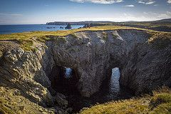 Hiking Over The Sea Cave In The Dungeon Provincial Park In Bonavista