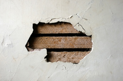Plaster wall repair-first time having plaster walls!