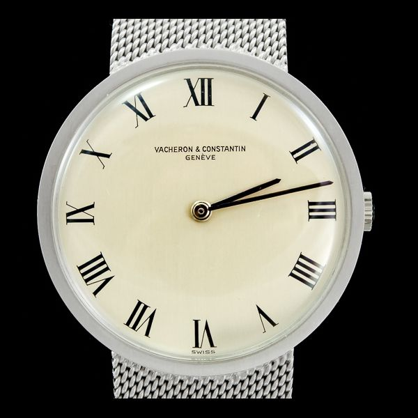 Vacheron Constantin -Vintage or blanc 18k30mm  Disponible immédiatement sur notre site: http://www.joaillerie-royale.com/114-montres-vintage