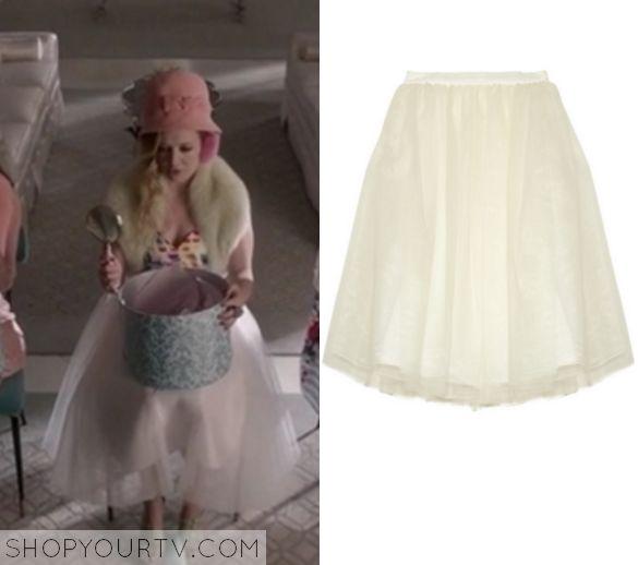 Scream Queens: Season 1 Episode 7 Chanel #3's White Flare Skirt