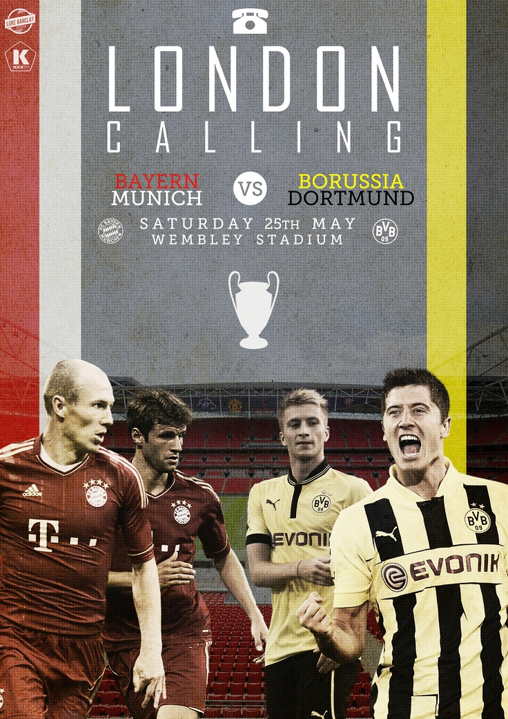 London's calling for an all-German final. [art by Luke Barclay] #UCL