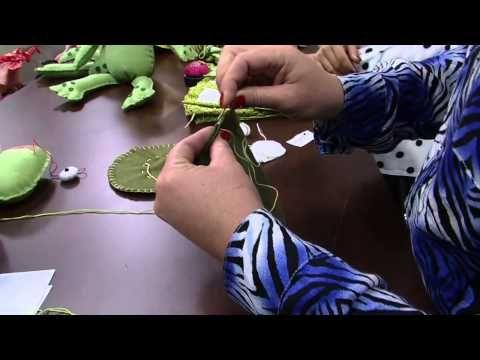 Video Diy par de sapos u otras ideas! Mulher.com 06/06/2014 - Casal sapos feltro por Jo Cruz Parte 1 - YouTube