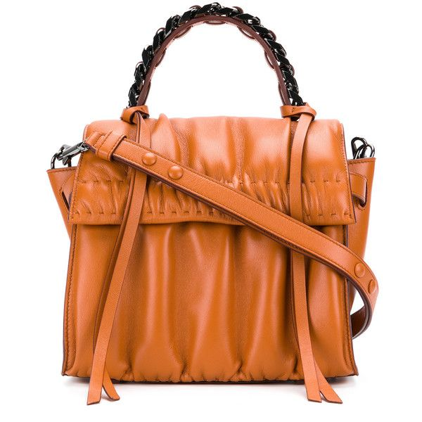 Elena Ghisellini Angle Glove small shoulder bag (90.335 RUB) ❤ liked on Polyvore featuring bags, handbags, shoulder bags, orange, shoulder bag purse, real leather purses, shoulder handbags, genuine leather purse and leather shoulder handbags
