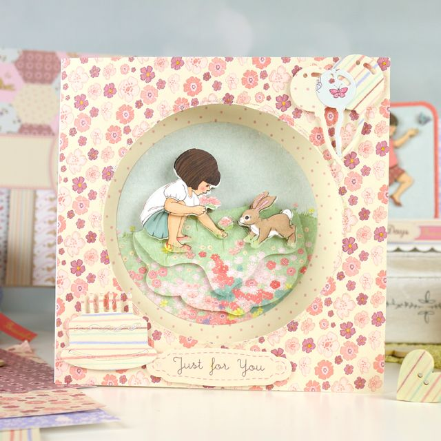 A happy, spring time scene featuring the brand new Belle and Boo collection