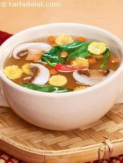 The trademark characteristics of a cuisine come not just out of the cooking and serving methods, but also thanks to the choice and nature of ingredients. Chinese cuisine uses a lot of vegetables, which in turn impart a shade of good health. Here is a simple and delicious soup that proves this theory! this delicacy is absolutely low in calories and high in nutrients like folic acid and fibre. Use vegetable stock instead of water to enhance its taste. Served with soya sauce and vinegar, this…