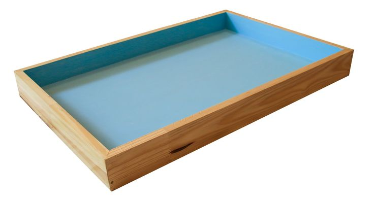 Sandplay trays, lids and trolleys can be ordered from us