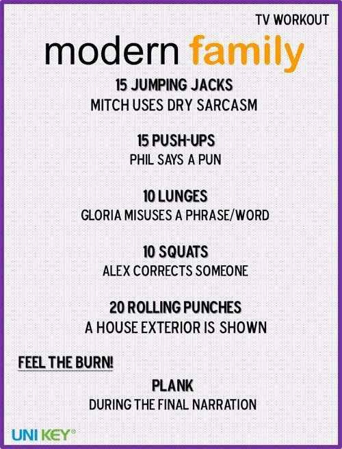Modern Family | 43 Workouts That Allow You To Watch An Ungodly Amount Of Television