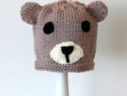 knitted Bear hat 3 - 8 years