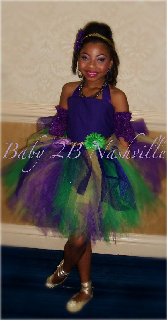 Mardi Gras Pageant Costume Tutu 2 Piece Dress with Matching Cuffs Girls 5-6T  sc 1 st  Pinterest : mardi gras kids costume  - Germanpascual.Com