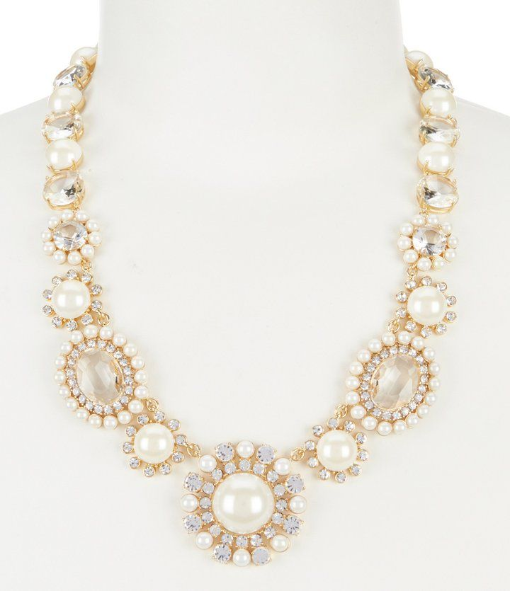 Kate Spade Luminous Faux-Pearl Statement Necklace