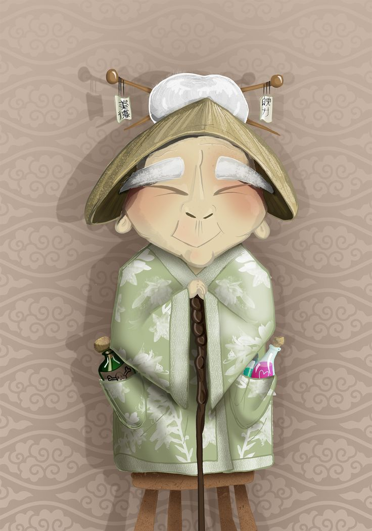 Chinesse doctor ready to heal with potions! illustration