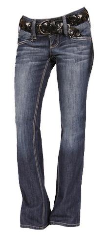 Studded wide waist Bootcut Jeans - $39