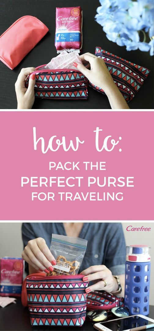 Between hopping on and off planes and trekking through a new city, a day of travel is stressful enough without having a heavy purse to weigh you down. Lighten your load and learn how to pack the perfect purse for traveling with these 10 must-have travel essentials. From a healthy on-the-go snack to a stash of Carefree® Acti-Fresh® liners, you'll have everything you need to be ready for life's little surprises.
