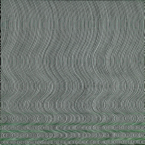 Bridget Riley, Fall (1963). Émulsion sur Isorel, 141 x 140 cm. Londres, Tate Modern Inv. T00616. | © TATE : PURCHASED 1963, LONDON 2012