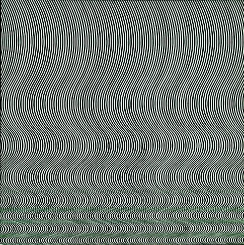 Bridget Riley, Fall (1963). Émulsion sur Isorel, 141 x 140 cm. Londres, Tate Modern Inv. T00616. | © TATE : PURCHASED 1963, LONDON 2012
