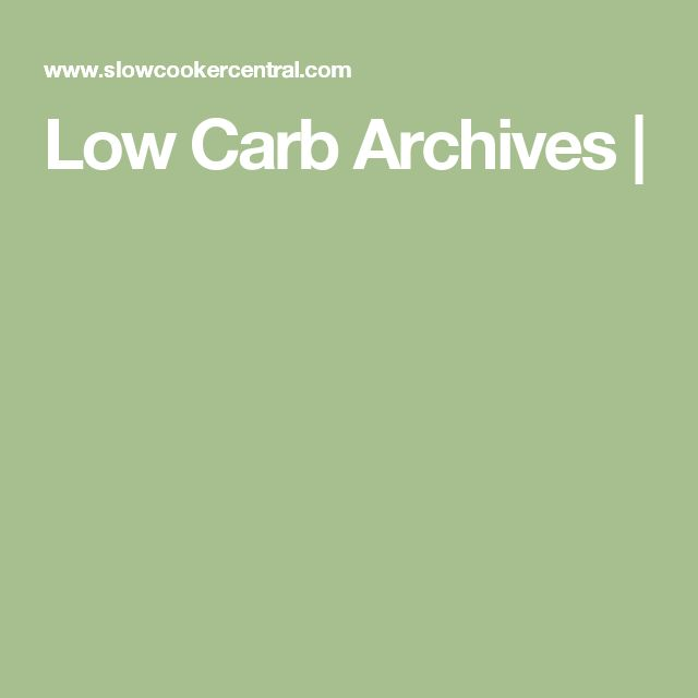 Low Carb Archives |
