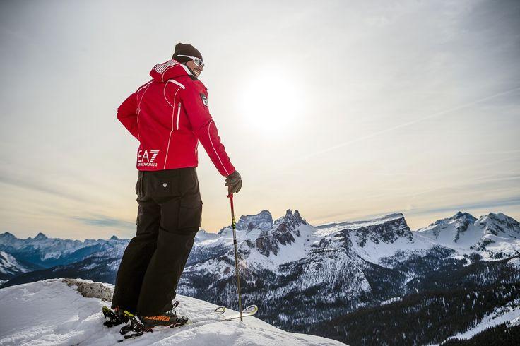Cortina Ski School instructor - Dolomites of Cortina d'Ampezzo view