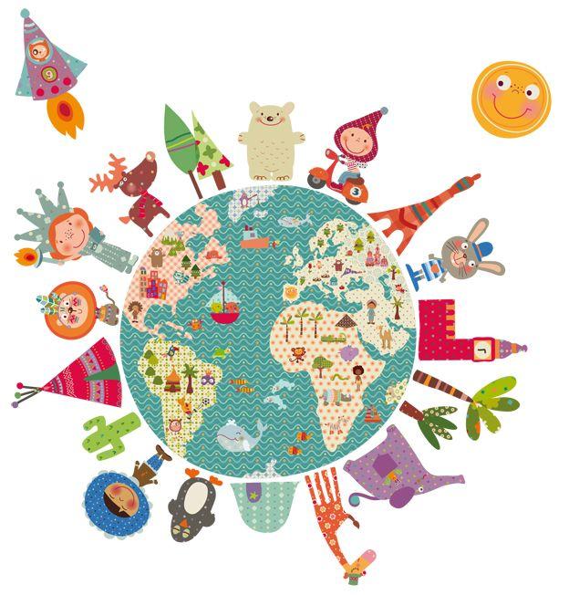 Las 25 mejores ideas sobre mapa mural del mundo en - Ideas fotos ninos ...