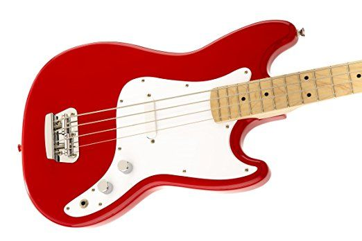 Squier by Fender Bronco Bass, Torino Red.    12 String Electric Guitar  Cool Electric Guitars  Fender Acoustic Electric Guitar  Electric Guitar Brands  12 String Acoustic Guitar  Gibson Guitars For Sale  Used Electric Guitars  Fender Guitar Amps  Best Acoustic Electric Guitar  Left Handed Bass Guitar  Rock Guitar  Electric Guitar Pickups  Music Instrument Store  Used Guitars For Sale  Electric Guitar Case  Guitar Straps
