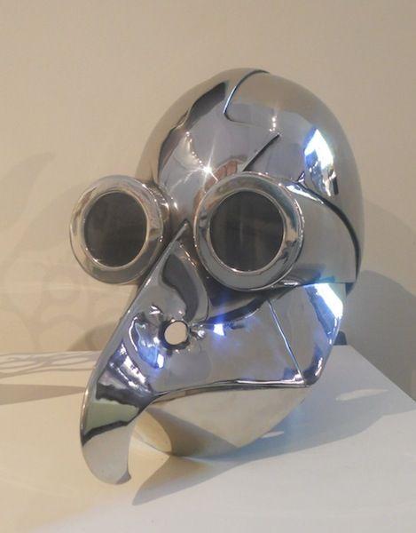 Rod Laws - Radio Birdman - Stainless Steel - Bird Helmet